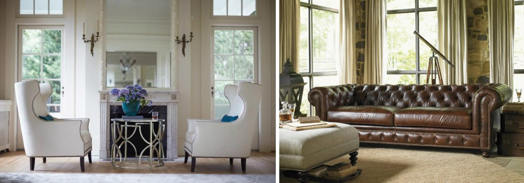 Masculine and Feminine Leather Furniture