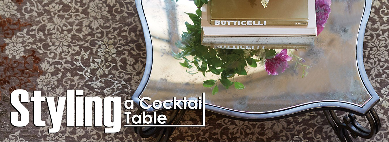 Styling a cocktail table