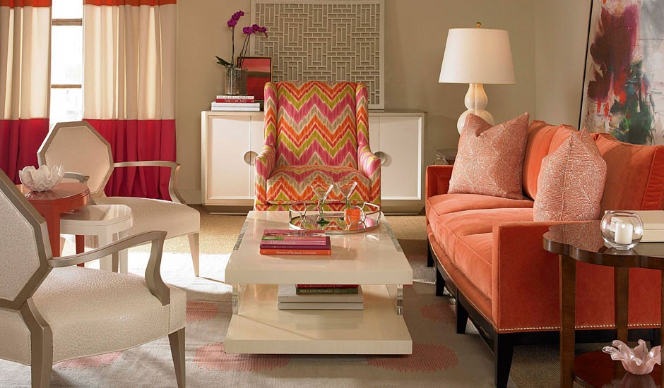 colouful living room