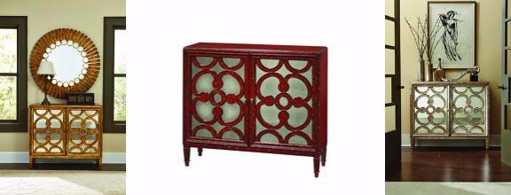 antique glass legend chest